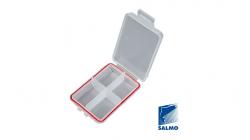 Коробка рыболовная водонепроницаемая Salmo WATERPROOF 105х70х25 4 ячейки