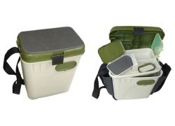 Ящик рыболовный зимний Salmo Aquatech 2-х ярусный пластиковый с карманами 33,5х23,5х39 см.