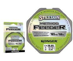 Леска фидерная KONGER Steelon Method Feeder Fluorocarbon Coated 150 метров