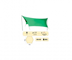 Тент Sol Green со стойками 4,40x4,40 метра