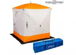 Палатка Куб зимняя Fish2Fish 1.6x1.6x1.7 м утепленная