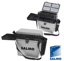 Ящик рыболовный зимний Salmo 2-х ярусный (из 5-ти частей) пластиковый 39,5x24,5x38 см.